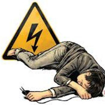 ilustrasi kesetrum listrik