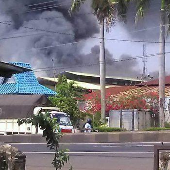 lokatex terbakar