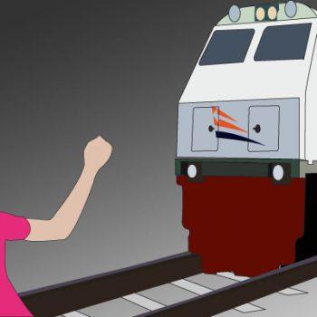 ilustrasi-wanita-tertabrak-kereta-api