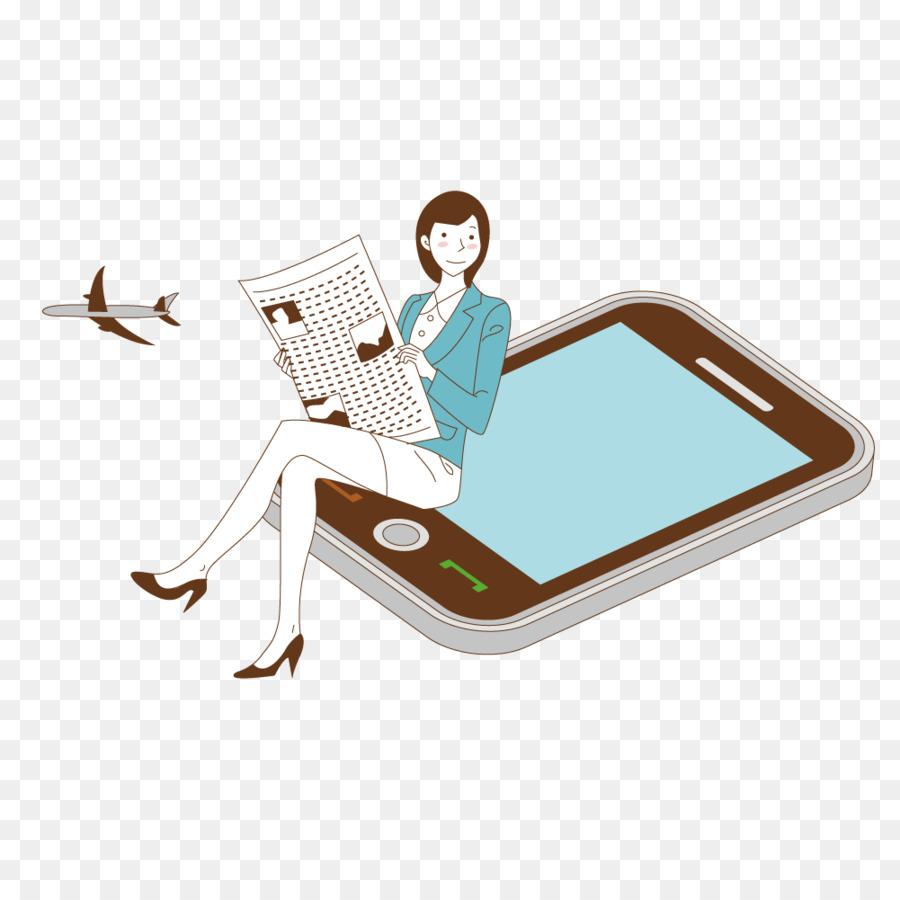 ilustrasi membaca elektronik