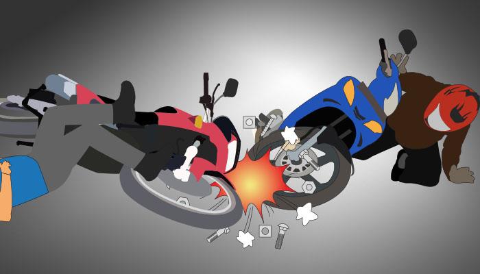 ilustrasi tabrakan motor_poskota