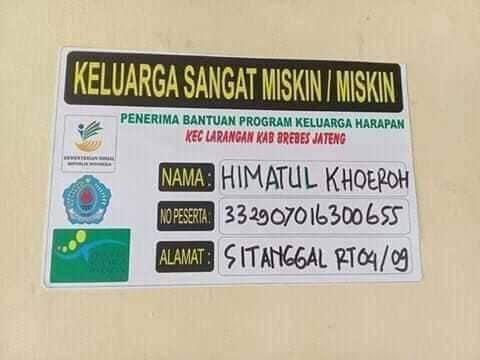 ilustrasi stiker pkh