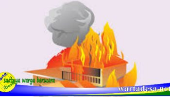 ilustrsi kebakaran rumah
